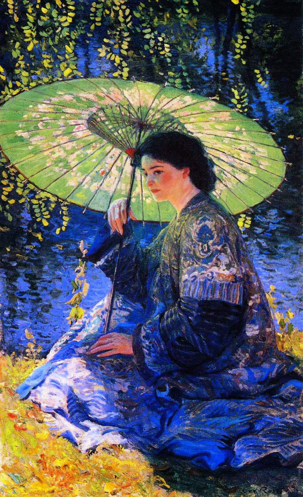 Guy Rose, The Green Parasol (1911)