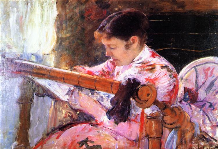 Mary Cassatt, Lydia at the Tapestry Frame