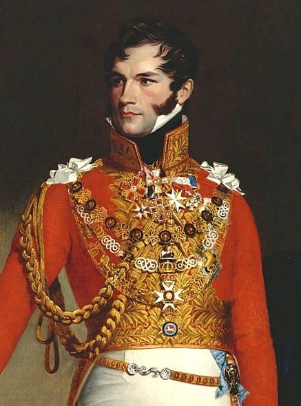 Leopold painted as King of the Belgians.