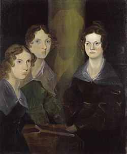 Anne, Emily, and Charlotte Bronte, painted by their brother Branwell.