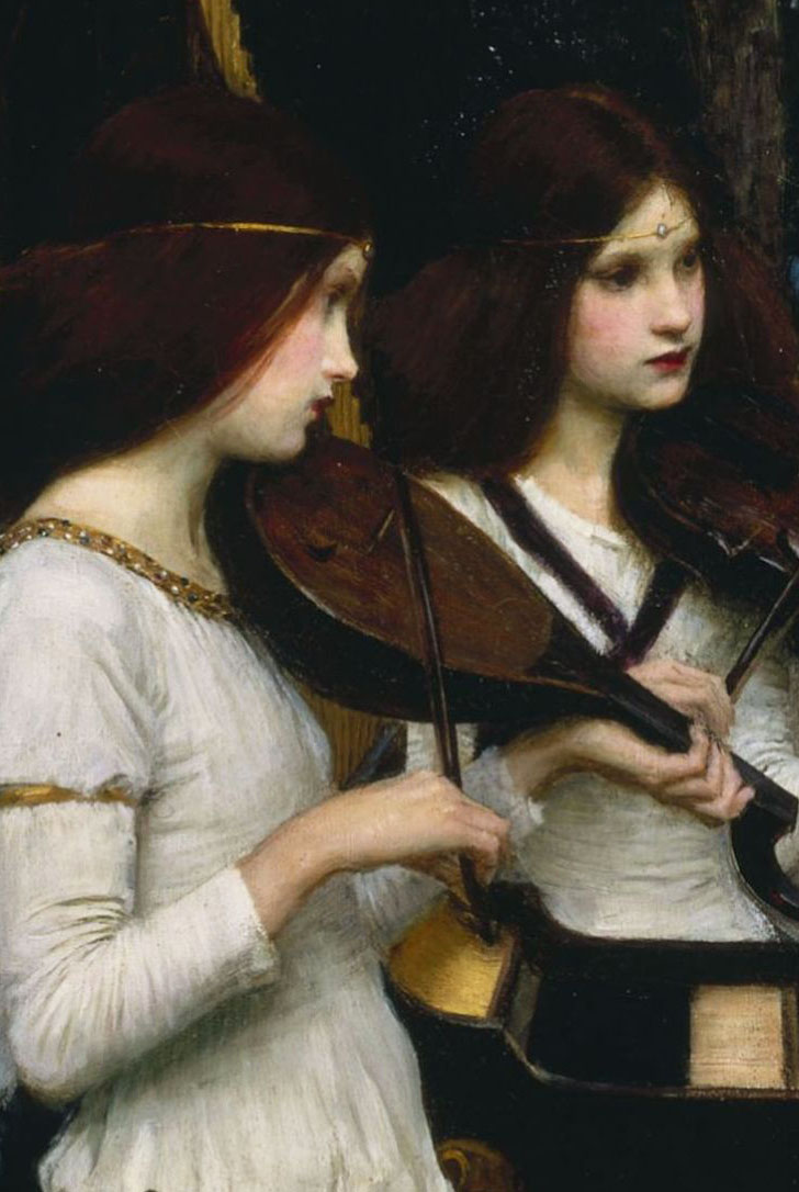 Detail of John William Waterhouse's  St. Cecilia