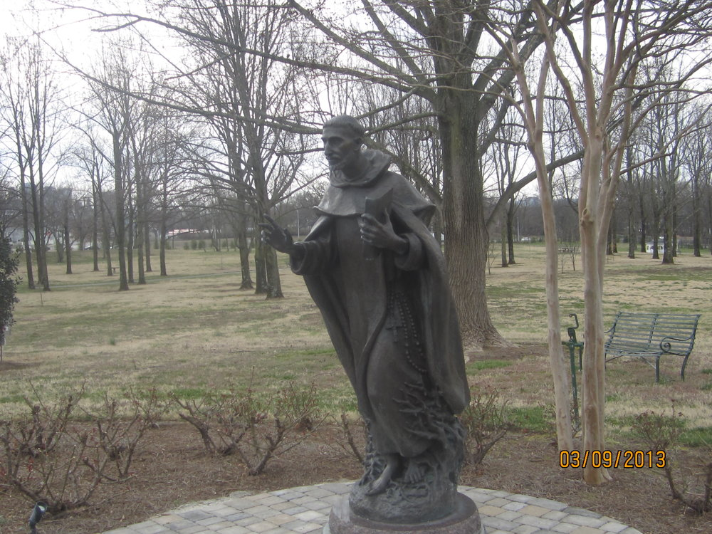 Statue of St. Dominic at the motherhouse of the Dominican Sisters of St. Cecilia in Nashville