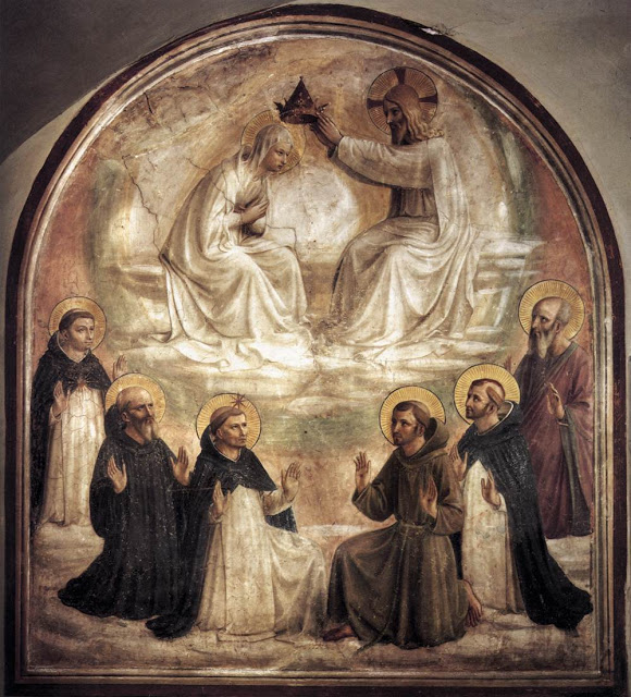 Fra Angelico,  Coronation of the Virgin  (Fra Angelico was a Dominican friar, by the way!)