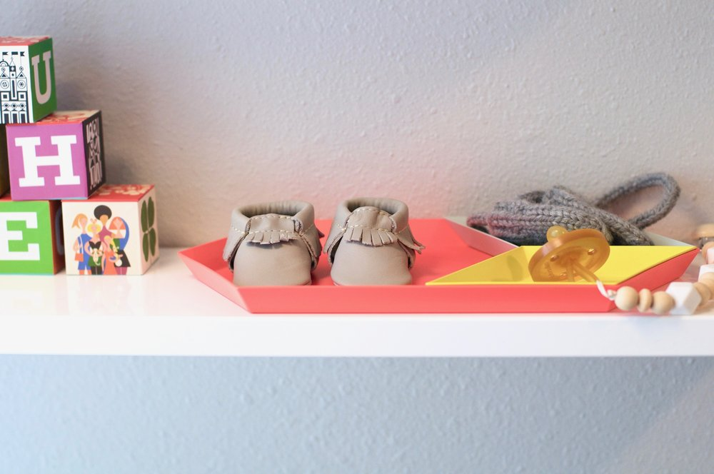 blocks  |  shelves  |  trays  |  moccasins  |  pacifier  |  pacifier clip  |  mittens
