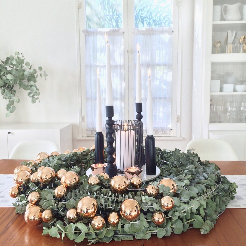 Modern Wreath Centerpiece