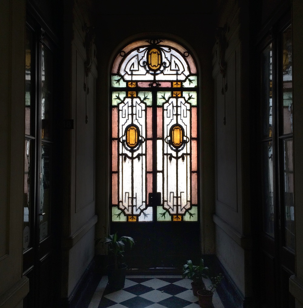 Stained Glass in Pasaje Pan.