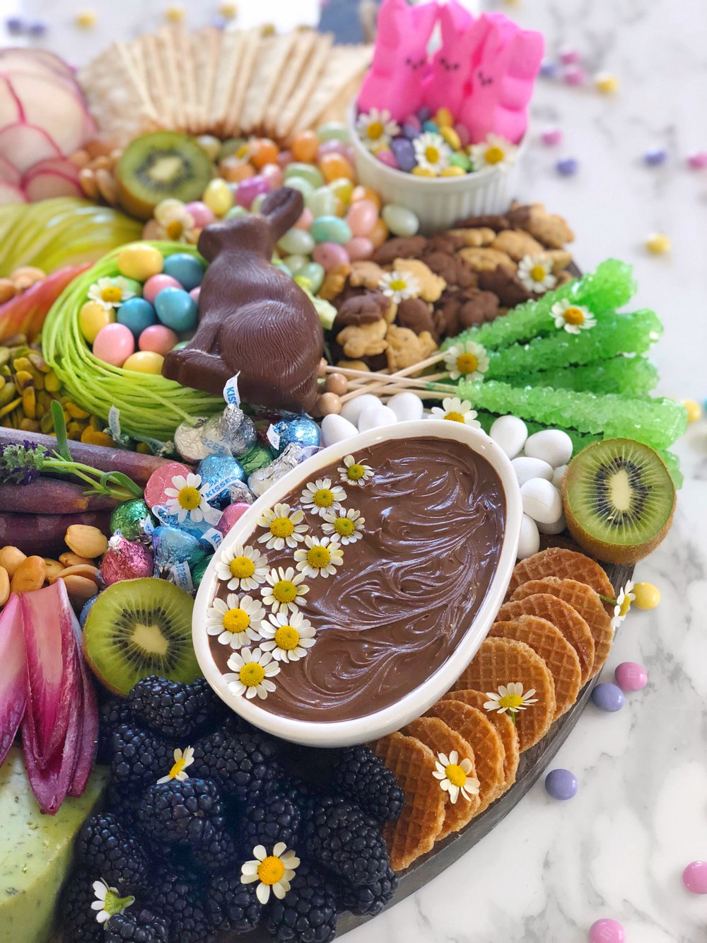 Easter Cheese Plate 3 Sweet Peeps Cadbury