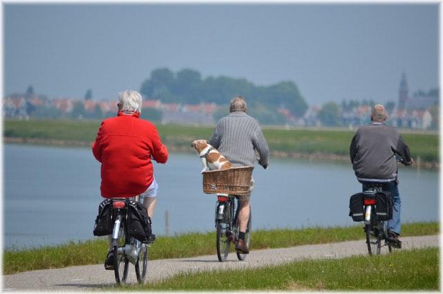 active seniors on bike