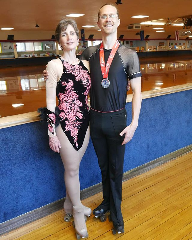 Well, this past week has been a blur, and I'm about to get on a flight to Norway. So I haven't had time to go through my media and pull out highlights from the artistic skating regionals competition last weekend. But here is one important highlight!  I placed second in the compulsory dance category for my age group! I qualified for Nationals!  Here is a photo of me and my amazing coach Hazel Inman. She is the gold medal skater in the top American category, and took gold again in her dances at regionals this year! And she's teaching me how to be a beautiful skater like her! Well. Maybe one day I'll come close... Also huge thanks to my other supplemental coach Joan Dreyer, for being so amazing, inspirational, and wise. Thanks to John and Diane Gustafson for helping bring me up in this sport, and for helping make sure I'm looking good out there in proper Skating attire. You're awesome Diane!  Anyway, my other event was Open B Creative Free Solo, and I did very well. I'm proud of the dance Hazel and I created for this event, and I skated it fairly well. I placed 6th out of 10, and did not qualify for regionals. I was the only person in this event who was over the age of 16. It was awesome, these young people are truly amazing.  Many thanks y'all, I'm giving many many thanks.  #artisticskating #danceskating #figureskating #usars #usarsfigureskating #usarsregionals2018 #secondplaceisprettygoodformyfirsttry #gratitude