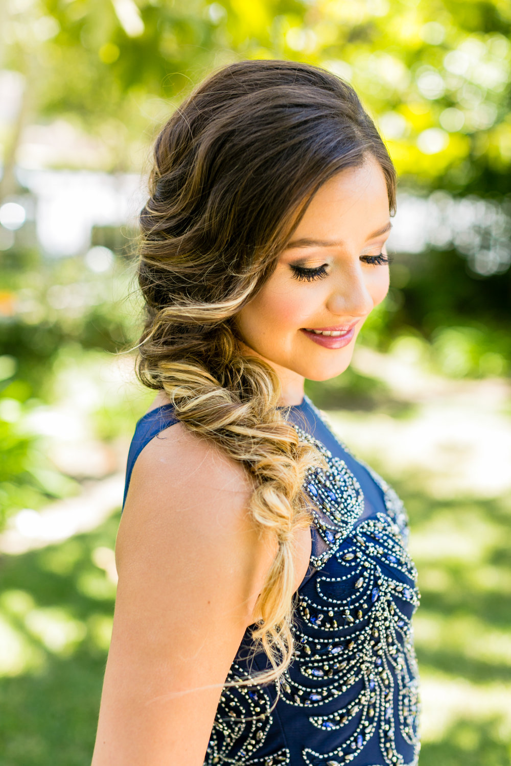 messy side braid - Prom Hairstyle