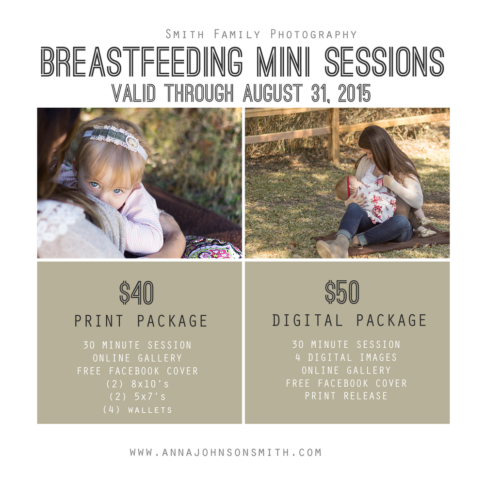 Breastfeeding Mini-Sessions to celebrate National Breastfeeding Month.