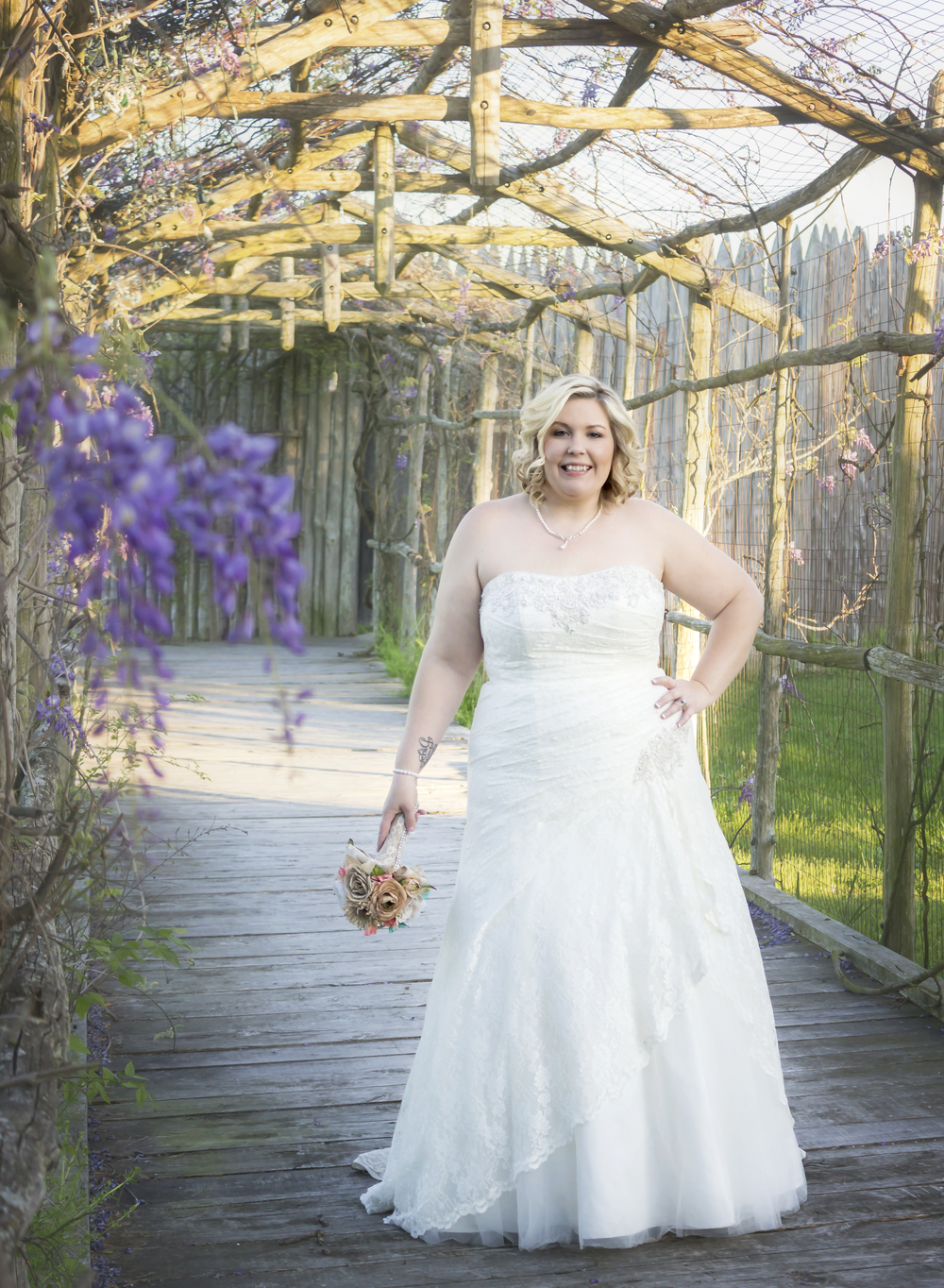 A beautiful bride in a beautiful dress!