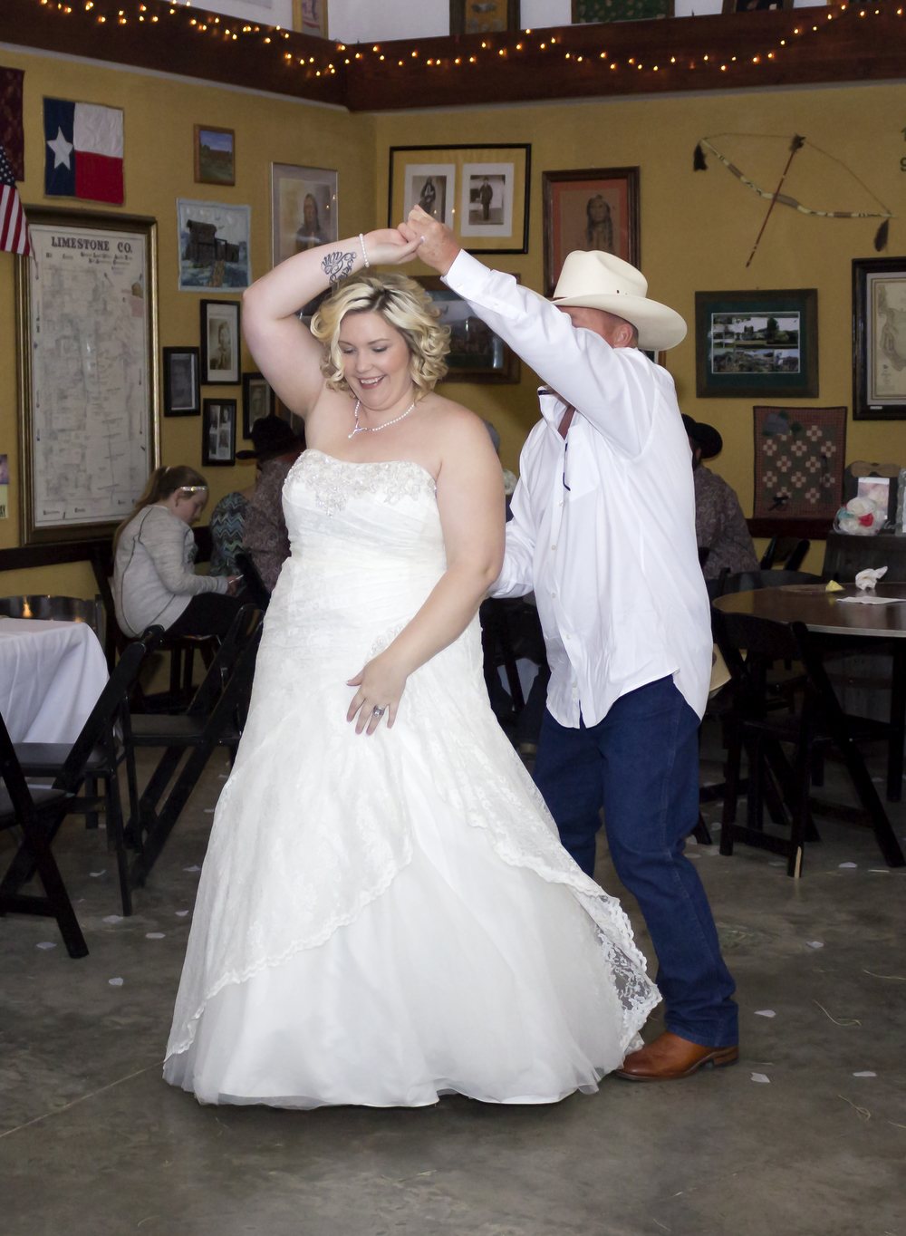 When Courtney danced with her dad, they had an upbeat song which was fun to watch them dance too.