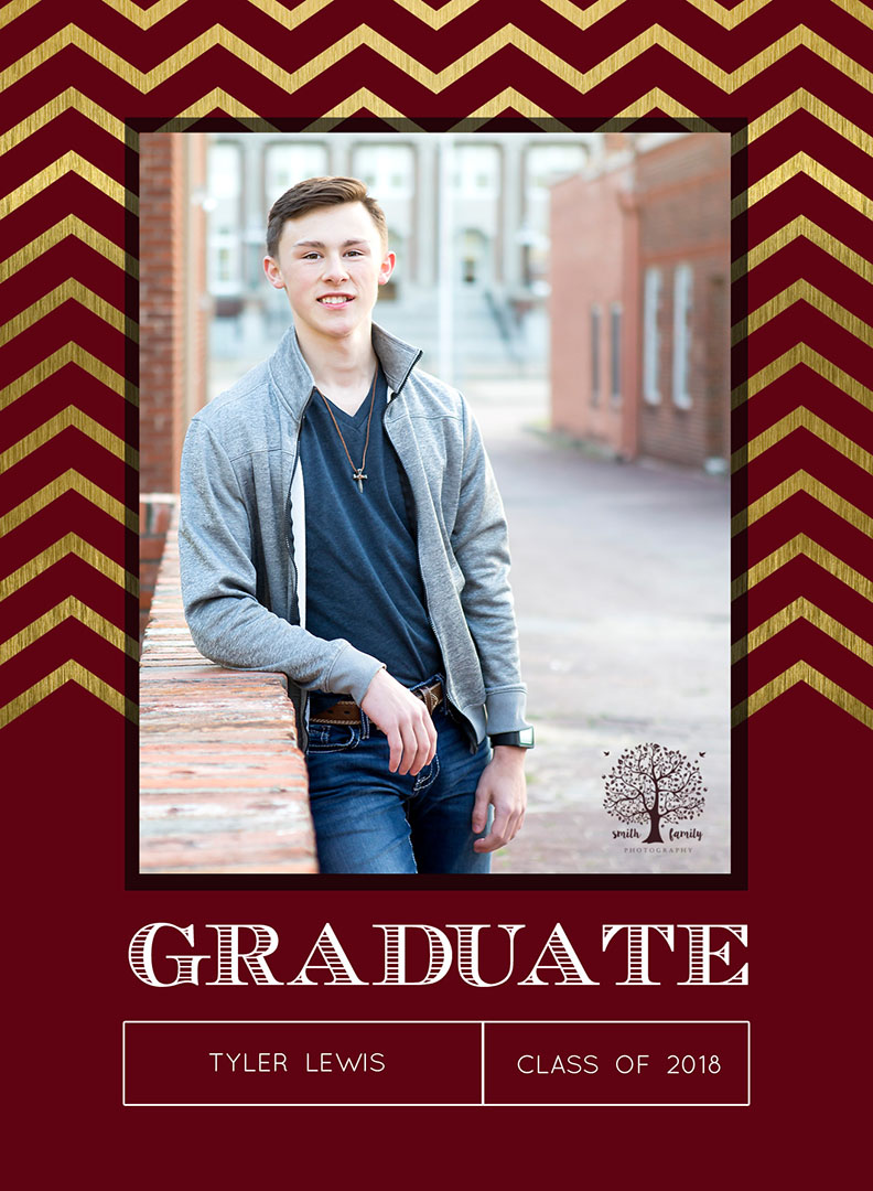Personalized graduation announcement for Tyler
