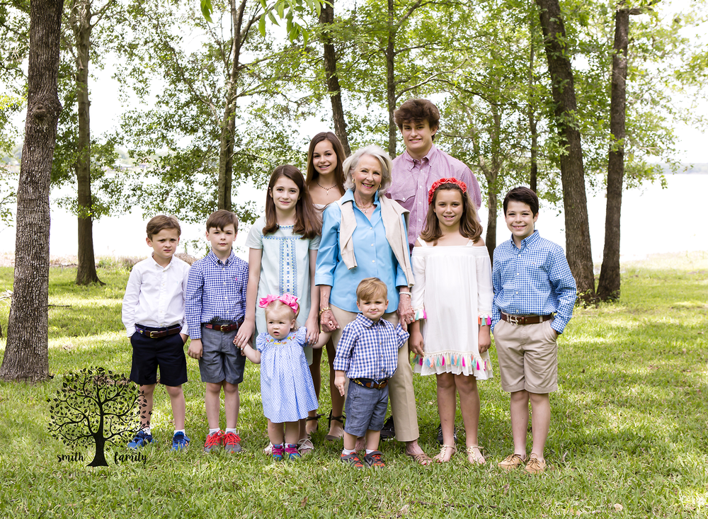 Grandma really wanted a photograph of her with her nine grandchildren.  She has one more granddaughter, but she could not attend unfortunately.