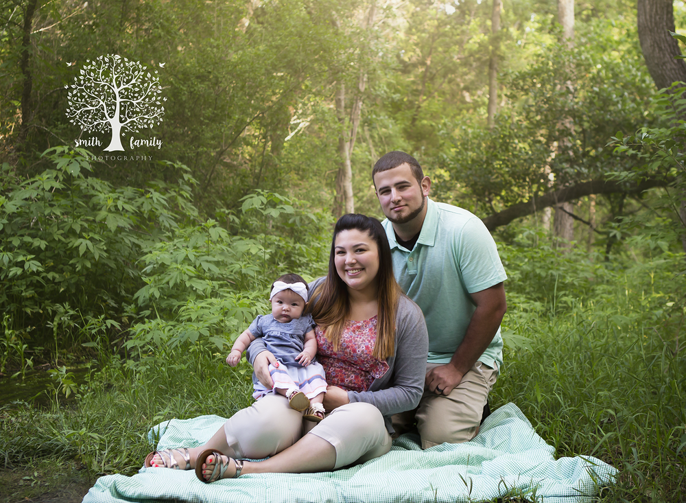 This session took place around 6:00pm, which was about an hour and a half before sunset.  Notice how there are not any harsh shadows.  The light is softly falling on each of the family members evenly.