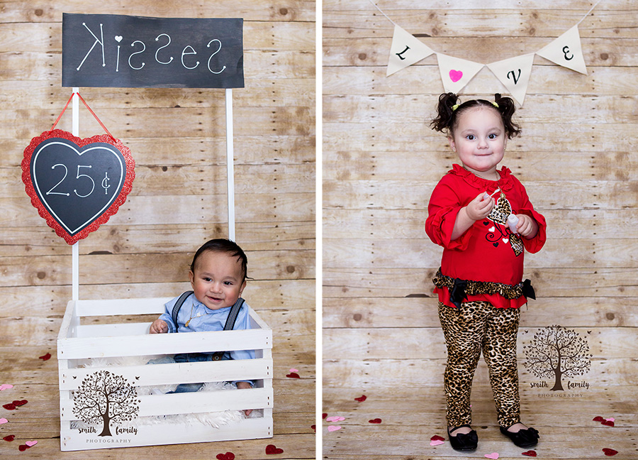 These two cousins had a great time at their Valentine Mini Session!