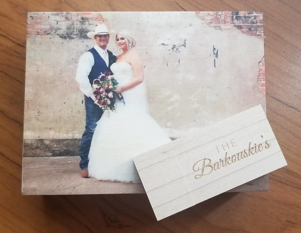 Custom Wood Box and USB included with every wedding