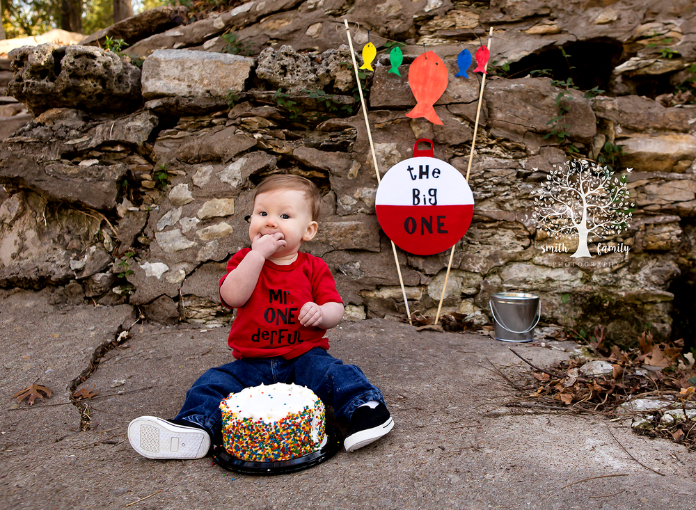 2017 - One Year/Cake Smash Combo Session. Caleb is ONE!