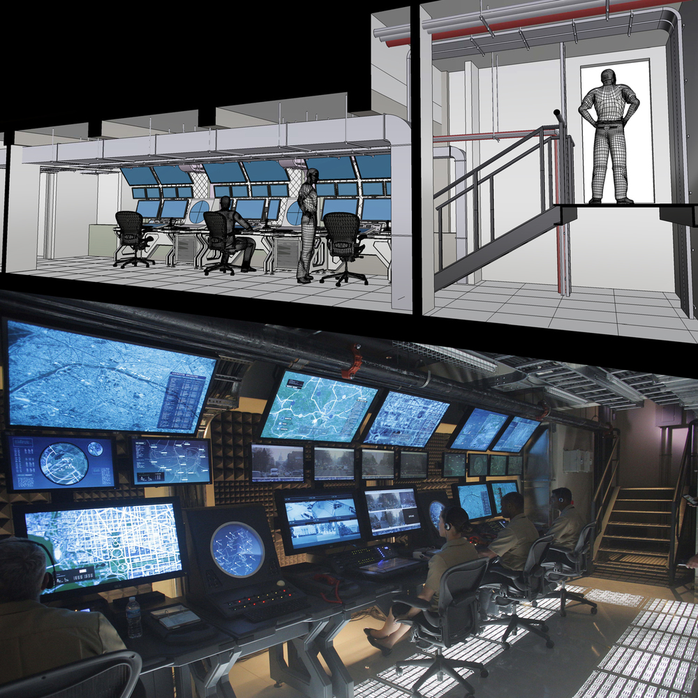 White House Down (2013) - Air Command Centre - Concept and Set Design by Stevo