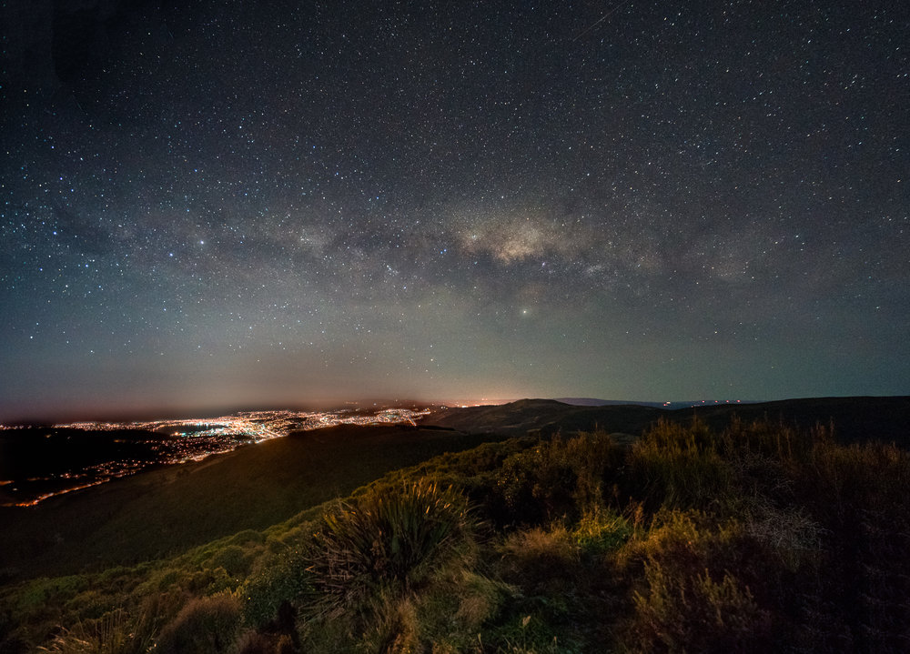 Milky Way over Dunedin City  Sony A7RII - Sony Zeiss 16-35 f4  30' | f4 | ISO 8000 | 16mm