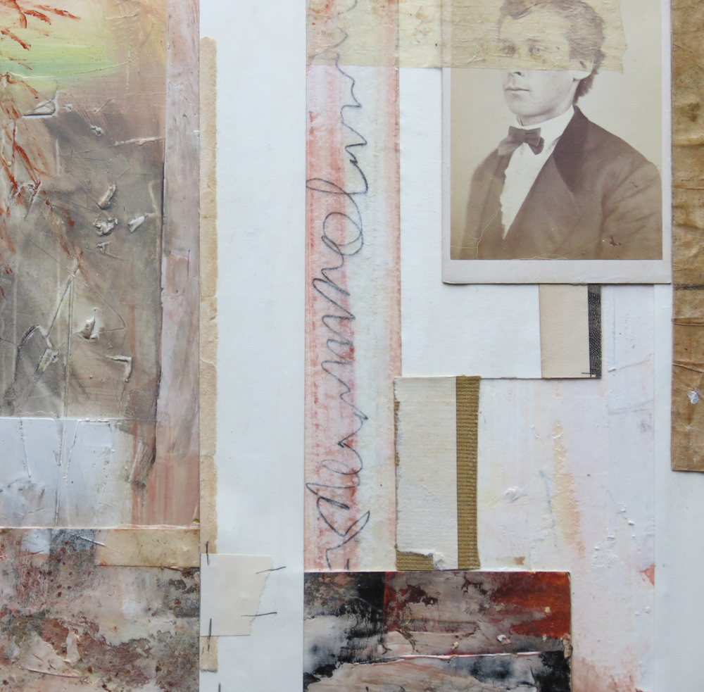 A mixed media collage by Clive Knights from 2014