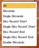 GLISSANDO MODES