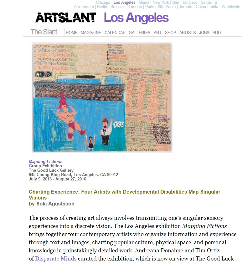 Mapping Fictions reviewed in ArtSlant and the LA Times