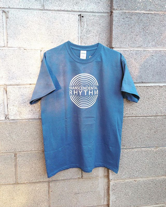 Transcendental Rhythm wear, screen printed in Santa Fe. Contact yogaofdrumming@gmail.com if you want one 👕🕶