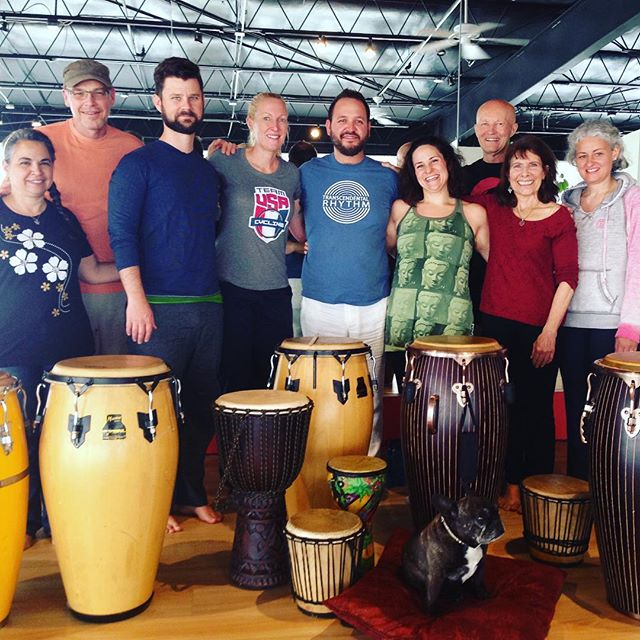 Big thanks to #studioniasantafe for hosting our first #yogaofdrumming event in Santa Fe! We met many wonderful souls and it was a beautiful space to explore rhythm!