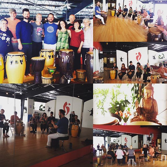 Santa Fe has rhythm!!! Thanks again to #studioniasantafe for hosting our first event in Santa Fe! We can't wait for the next one! #yogaofdrumming #transcendentalrhythm #nia #studioniasantafe #drumming #rhythmislife #santafemusic #santafe