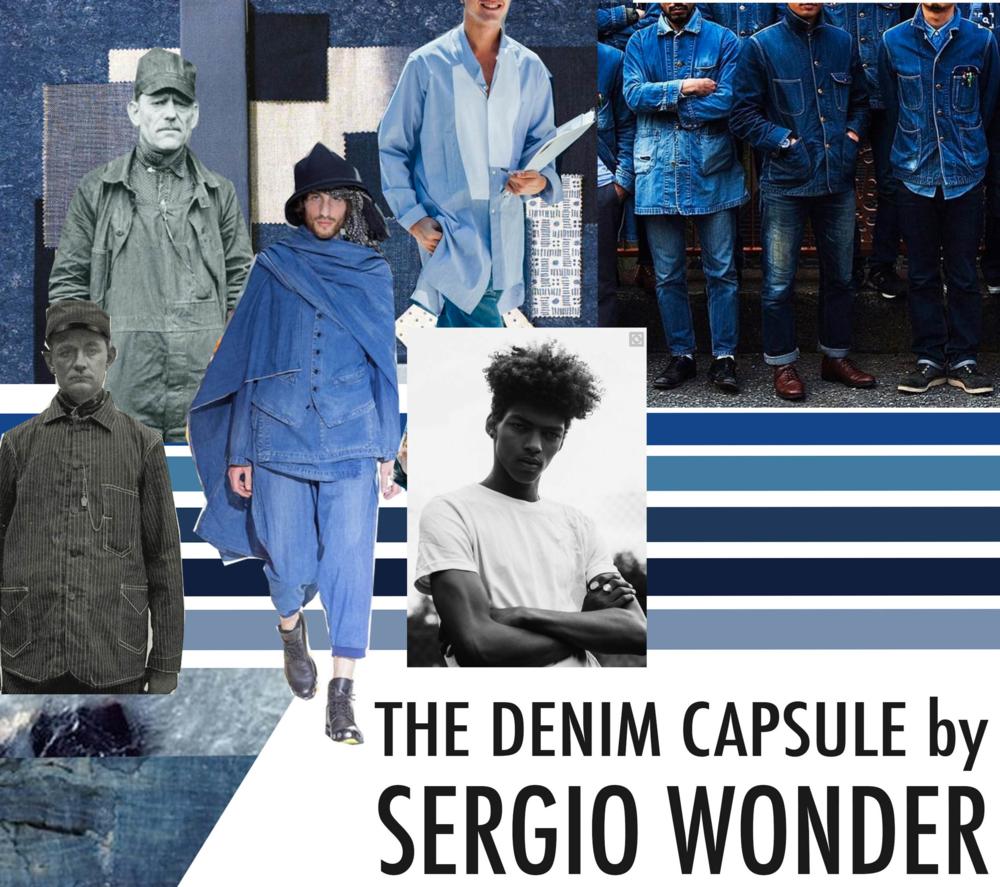Sergio Wonder Denim Mood Board