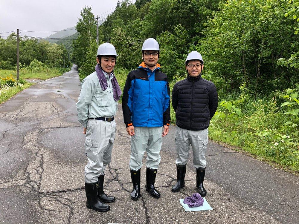 主任 若松誠様、主任技師 山野井隆様、主任技師 泉洋一朗様