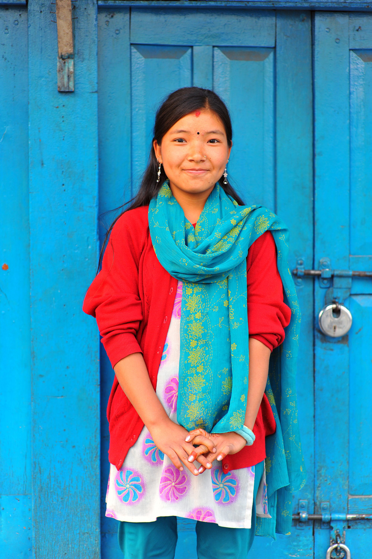 《塔芒族女孩》尼泊尔 Nepal