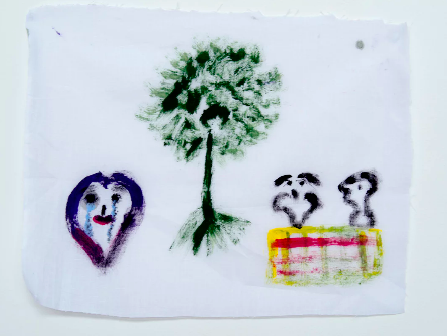 A drawing by a Nauru detainee .  Photograph: David T Young/ Penny Ryan
