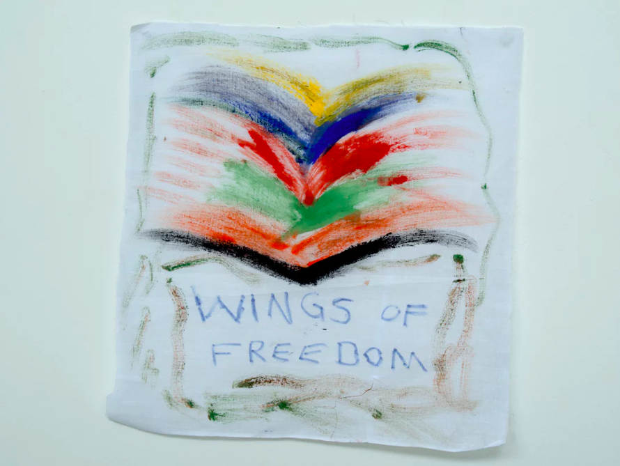 'Wings of freedom': a drawing from a detainee on Nauru. Photograph: David T Young/Penny Ryan