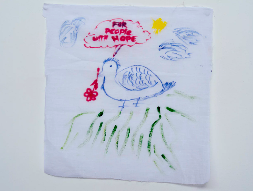 A message/drawing by a detainee on Nauru. Photograph: David T Young/Penny Ryan