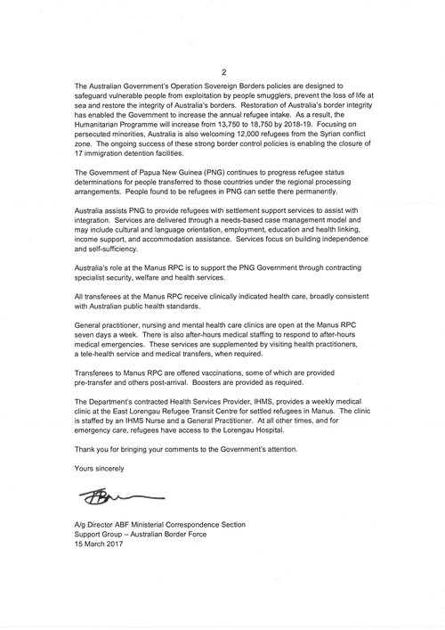 The third reply from dibp no reply yet from prime minister turnbull more than half of the content of this letter is identical to parts of the first and second letters i have received none of the three letters address the spiritdancerdesigns Gallery
