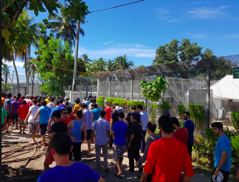 Protest at Manus RPC, August 1 2017. Photo: Behrouz Boochani