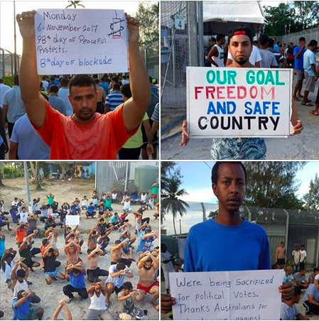 98th day of peaceful protest at Manus Island detention centre