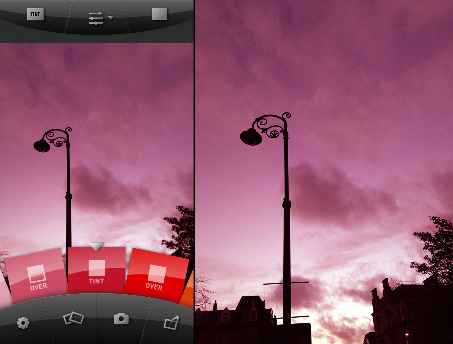 Example of the Tint Blend Mode