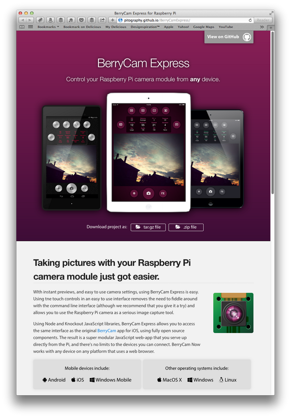 BerryCam Express is now available  Get it for your Raspberry Pi on