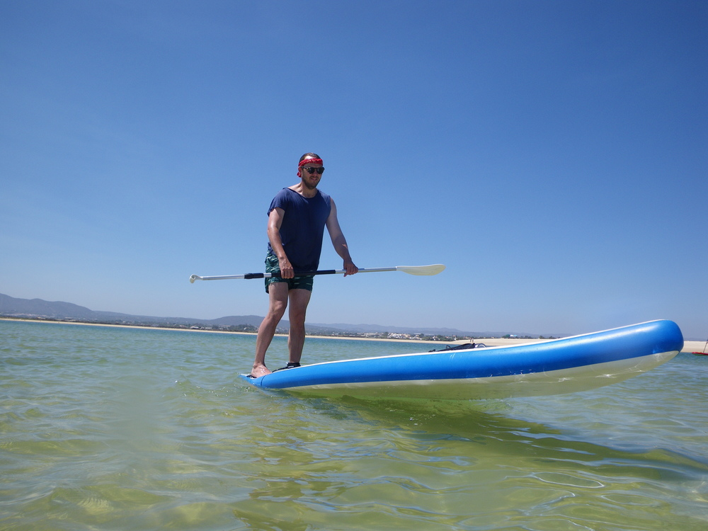 SUP Freestyle in Fuseta Lagoon