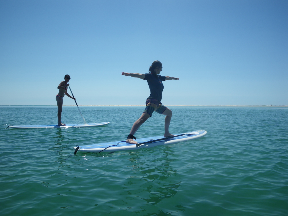 SUP Yoga at Fuseta in the Ria Formosa Natural Park