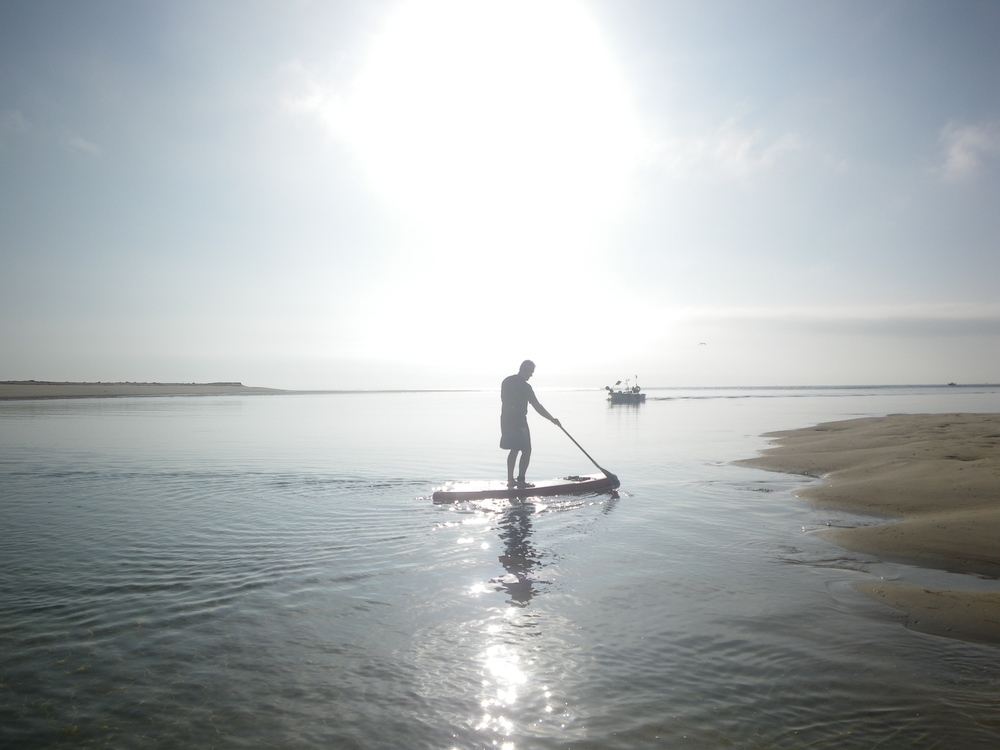 A quiet SUP in Fuzeta Lagoon just after Sunrise