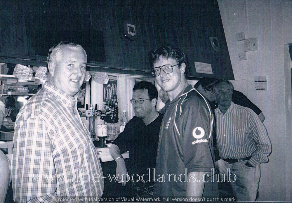 A young looking Curly and Alwyn at the Social Club bar
