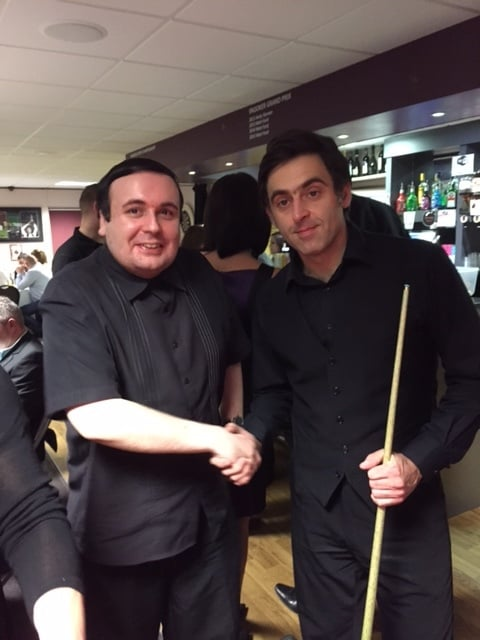 Woodlands St Mary Snooker Star Ben with Ronnie O'Sullivan