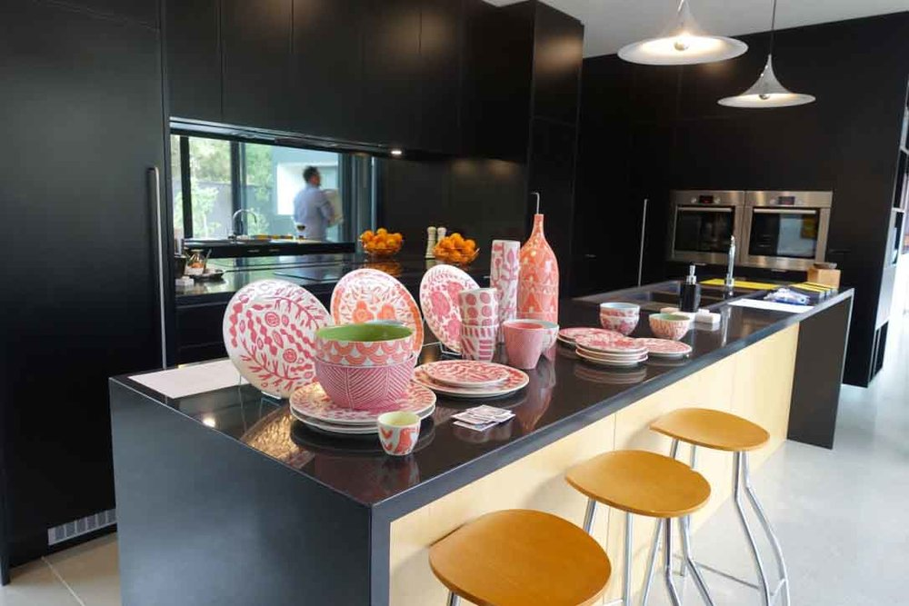Dimity Kidson's ceramics in the kitchen