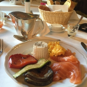Ricotta, roasted veg, smoked salmon & scrambled eggs