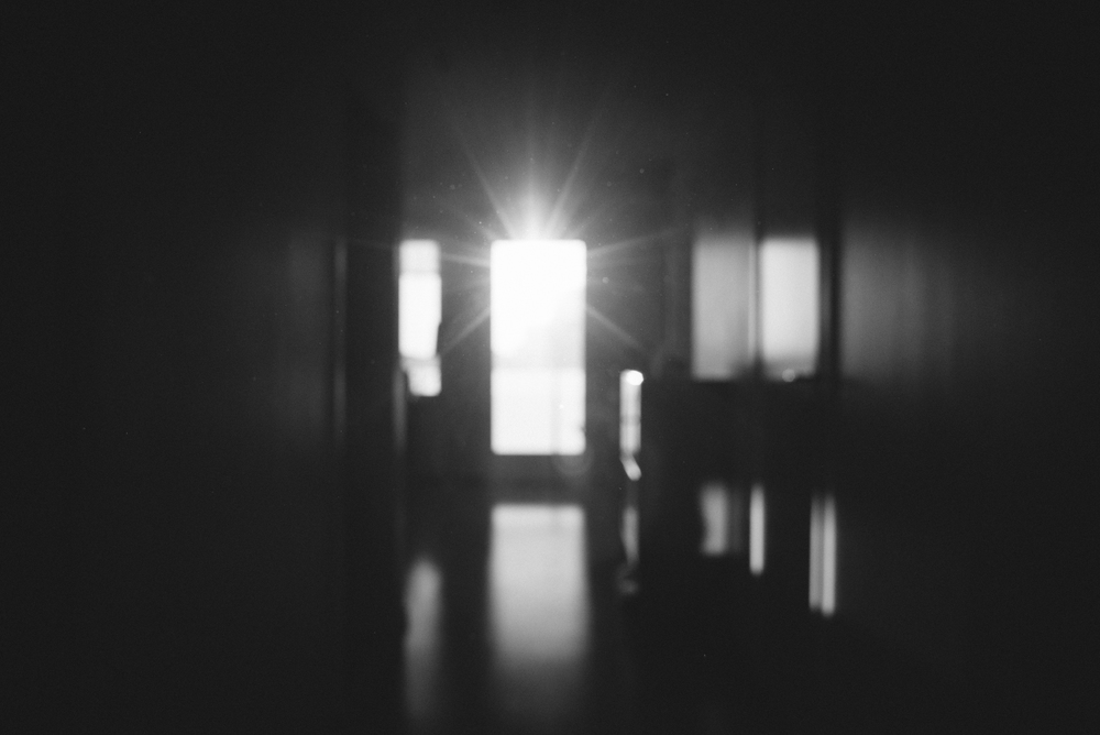 Illuminated hallway, Örnsberg, Stockholm